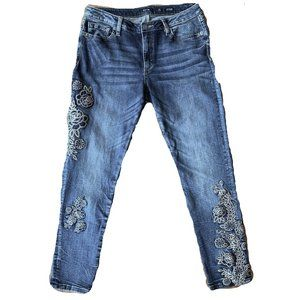 Miss Me Standard Ankle Skinny Embroidered Size 29